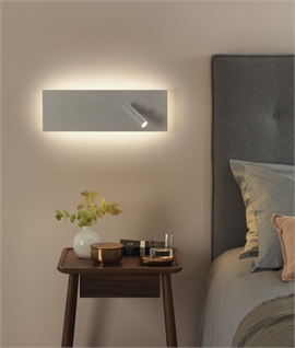 Stunning Large White LED Bedside Reading Light