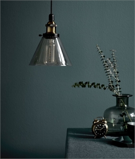 Vintage Ceiling Pendant with Tapered Glass Shade