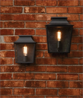 Traditional Exterior Wall Light - 2 Sizes