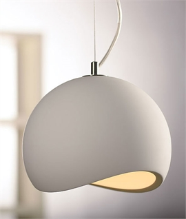 Pendant lights plaster ceramic concrete lighting styles paintable plaster globe pendant aloadofball Image collections