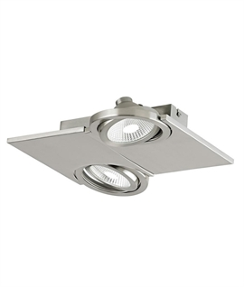 Square LED Surface Mounted Double Spotlight