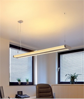 Modern Slim Fluorescent Suspension Light