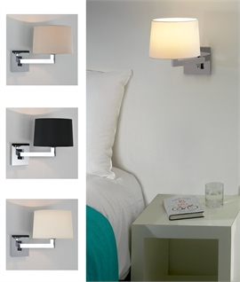 Swing Arm Wall Light Safe for Bathrooms, Ideal for Mirrors