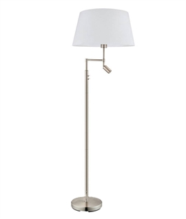 Floor Lamp with Integral Switched Reading Lamp