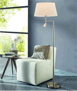 Switched Floor Lamp with Shade & LED Spot