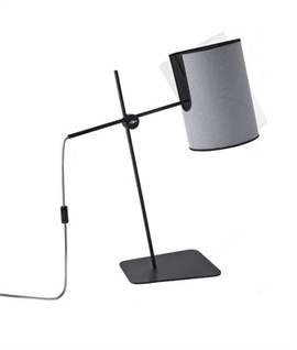 Grey Shaded Table Lamp with Tiliting Ability