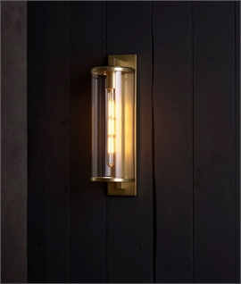 Round Glass Exterior Wall Light - 2 Sizes