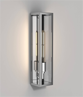 Tall Slim Flush Mounted Outdoor Wall Light