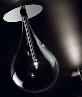 Teardrop Clear Glass LED Flush Ceiling Light