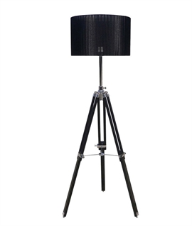 Tripod Floor Lamp With Drum Shade - Telescopic