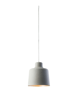 Textured Grey Granite Effect Pendant