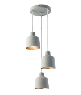 Cluster 3 Light Ceiling Pendant - Textured Finish