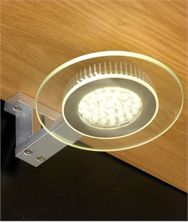 LED Glass Under Cabinet Light - Square Triangle or Circular