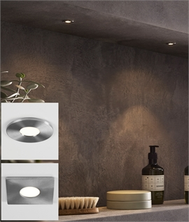 Recessed Discreet Brushed Steel IP65 LED Light