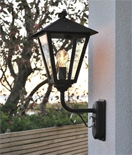 Standing Wall Lantern with a Contemporary Twist