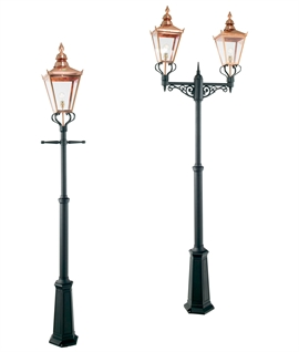 Classic Gasolier Style Copper Lantern Lampposts