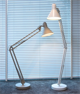 Traditional Large Anglepoise Grey Floor Lamp