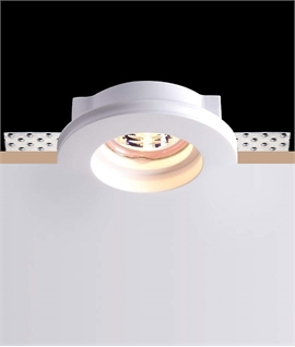 Trimless Plaster-In Recessed Downlight For GU10 Mains Lamps
