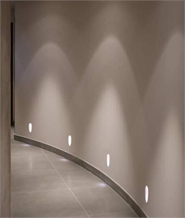 Recessed Plaster Step Light: Sphere