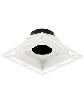 Square Trimless Plaster-In Downlight - Adjustable