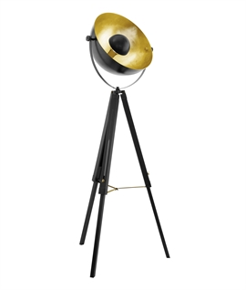 Tripod Floor Lamp with Parabolic Reflector