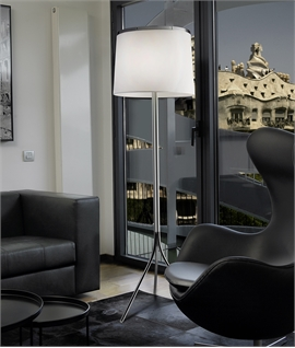 White Shade Tripod Floor Lamp