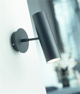Tubular Adjustable Spot Light with Switch - Two Finishes