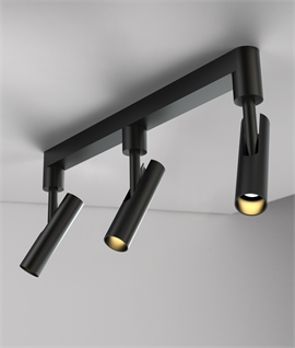 rail light 3 spotlight led two finishes - Lighting Bars For Kitchens
