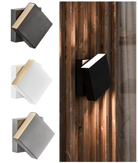 Square LED Exterior Wall Light - Free Rotation