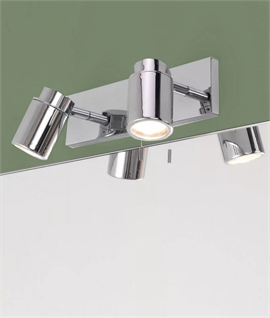 Twin Wall Chrome Spotlight IP44 Rated & Pull Cord