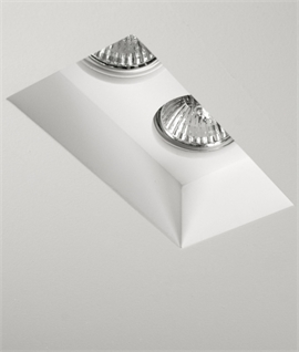 Trimless Plaster-in Downlight - Twin Lamp