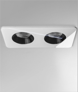Twin Fixed LED Downlight with IP65 Rating