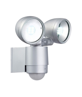 Modern Exterior Wall TWIN Spotlight - PIR Operation