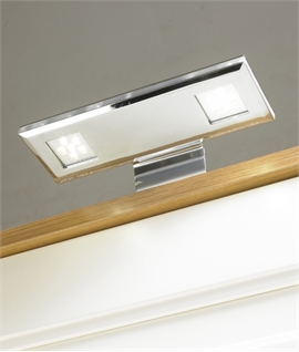 Over Cabinet Twin LED Light - Swan Neck Design