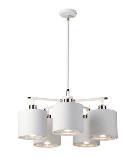 Modern 5 Light Chandelier with Diffuser