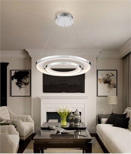 Uber Modern Double Circle LED Pendant Dia 820mm