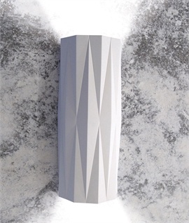 Geometric Up-Down Natural Plaster Wall Light