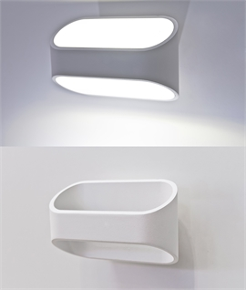 Wide Up & Down LED Wall Light - White or Black