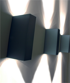 Block LED IP44 Wall Light - Up & Down Light