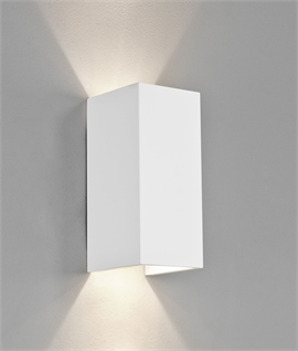 Square Edged Wall Washer with Up & Down Light - Natural Plaster