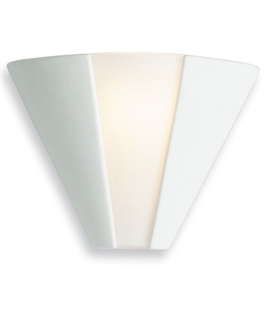 Cone Ceramic & Glass Panel Wall Light