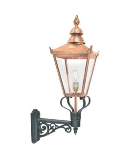 Classic Copper Wall Lantern H:790mm