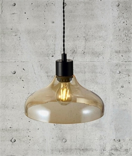 Vintage Pendant with Contoured Dome Shade