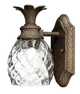 Vintage Pineapple-Shaped Glass LED Wall Light IP44