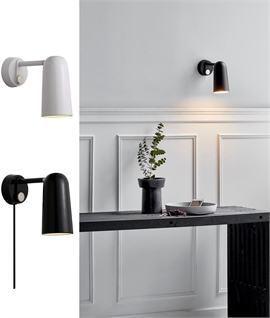 Modern Style Wall Light with Built-In Dimmer Switch