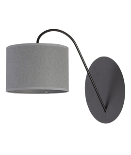 Sleek Curved Wall Light with Fabric Shade