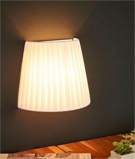 Floating Wall Light with Pleated Fabric Shade