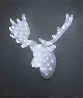 Wall Mounted LED Moose Head