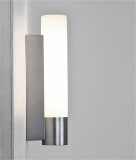 Wall Sconces Next To Mirror : Excellent Value Simple glass and chrome bathroom wall light IP44 and with pullcord