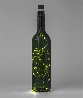 Waterproof LED String Bottle Light USB Rechargeable - Twin Pack